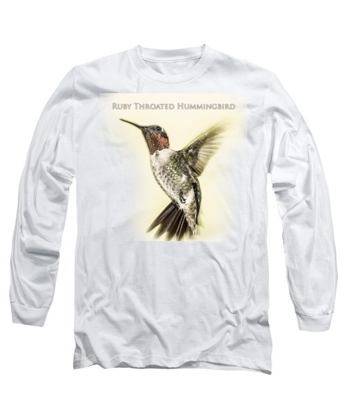Ruby Throated Hummingbird Long Sleeve T-Shirt by Barry Jones