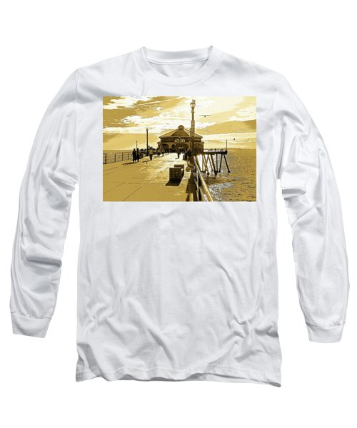 Long Sleeve T-Shirt featuring the photograph Ruby's At The Pier by Everette McMahan jr