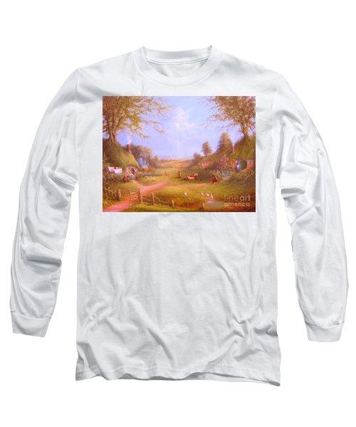 Run Bilbo Late For An Appointment Long Sleeve T-Shirt by Joe  Gilronan