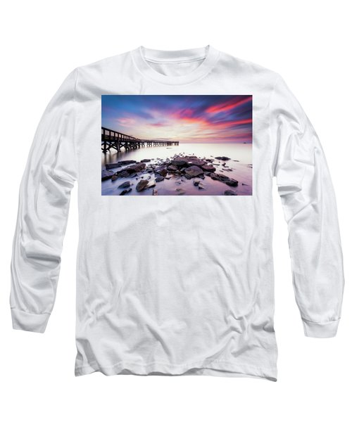 Run To The Sun Long Sleeve T-Shirt by Edward Kreis