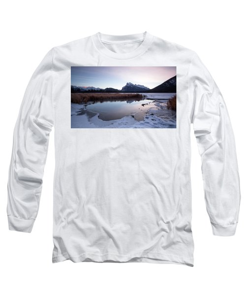 Rundle Mountain Reflections Long Sleeve T-Shirt