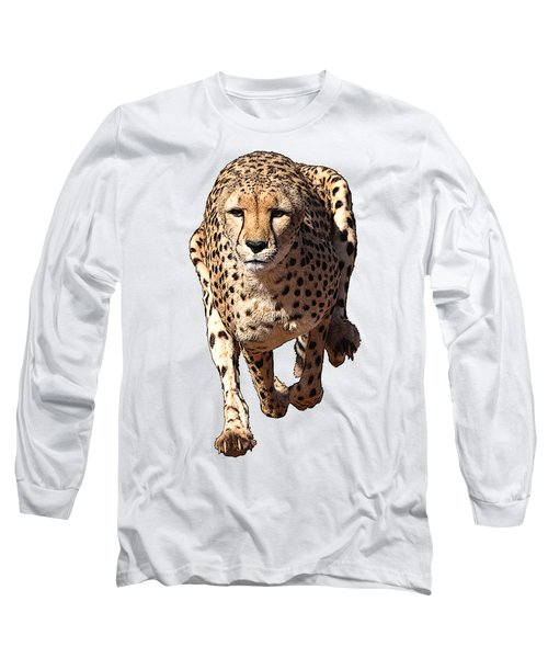 Running Cheetah Cartoonized #3 Long Sleeve T-Shirt
