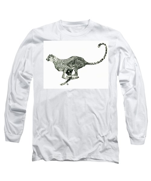 Running Cheetah Long Sleeve T-Shirt