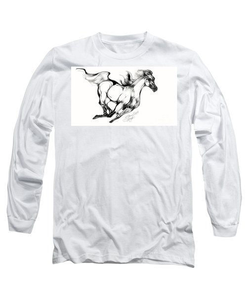 Running Horse Long Sleeve T-Shirt