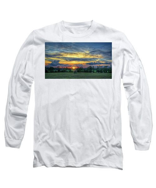 Long Sleeve T-Shirt featuring the photograph Rural Sunset by Lewis Mann
