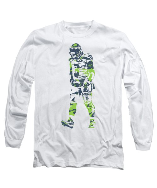 Russell Wilson Seattle Seahawks Pixel Art T Shirt 1 Long Sleeve T-Shirt