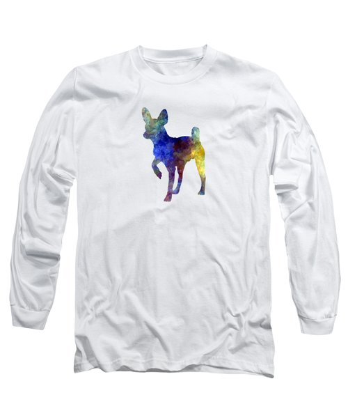 Russian Toy 01 In Watercolor Long Sleeve T-Shirt