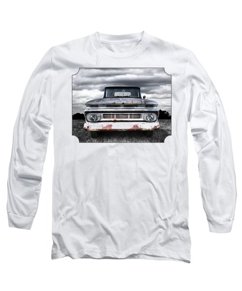Rust And Proud - 62 Chevy Fleetside Long Sleeve T-Shirt by Gill Billington