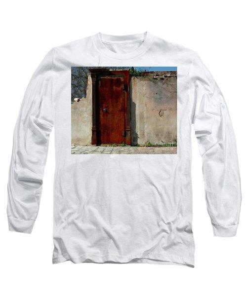 Long Sleeve T-Shirt featuring the photograph Rustic Ruin by Lori Mellen-Pagliaro