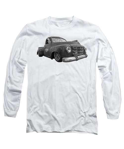 Rusty Studebaker In Black And White Long Sleeve T-Shirt