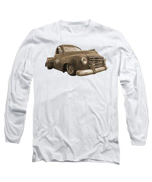 Rusty Studebaker In Sepia Long Sleeve T-Shirt