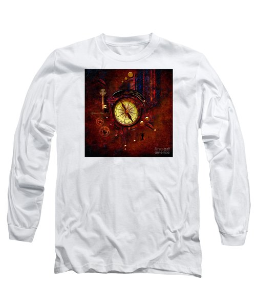 Long Sleeve T-Shirt featuring the digital art Rusty Time Machine by Alexa Szlavics