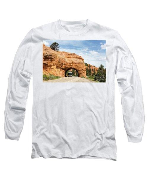 Rv Red Canyon Tunnel Utah Long Sleeve T-Shirt