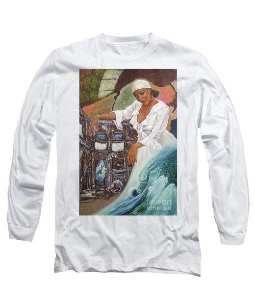 Sabanas Blancas Long Sleeve T-Shirt by Jorge L Martinez Camilleri