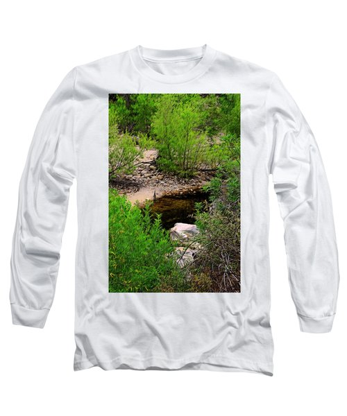 Long Sleeve T-Shirt featuring the photograph Sabino Canyon Op44 by Mark Myhaver