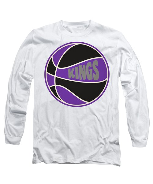 Sacramento Kings Retro Shirt Long Sleeve T-Shirt by Joe Hamilton