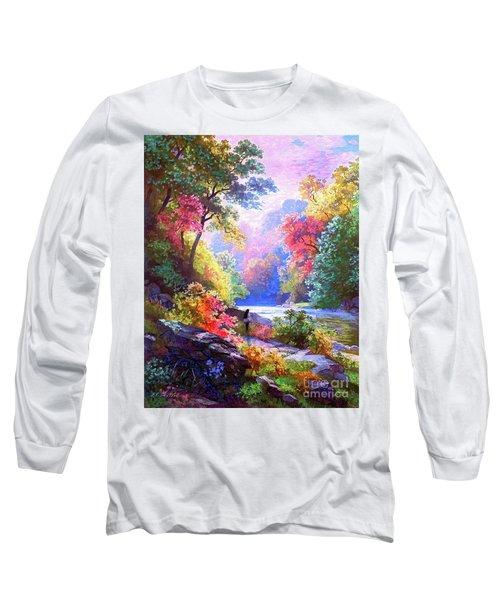 Sacred Landscape Meditation Long Sleeve T-Shirt
