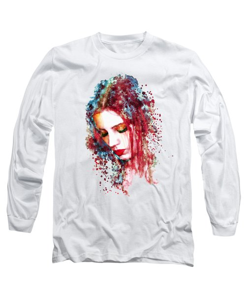 Sad Woman Long Sleeve T-Shirt