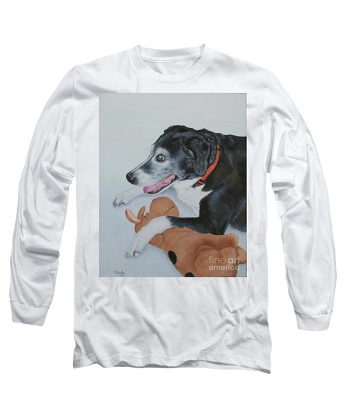 Long Sleeve T-Shirt featuring the painting Sadie by Mike Ivey