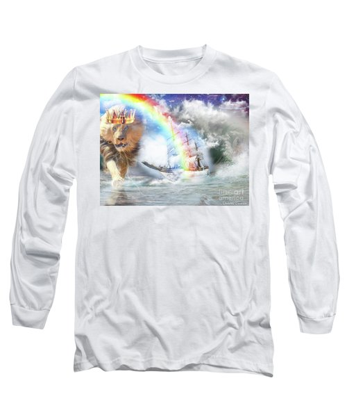 Long Sleeve T-Shirt featuring the digital art Safe Harbor  by Dolores Develde