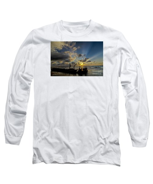 Safe Shore 03 Long Sleeve T-Shirt by Arik Baltinester