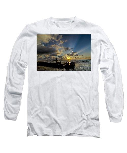 Long Sleeve T-Shirt featuring the photograph Safe Shore 03 by Arik Baltinester
