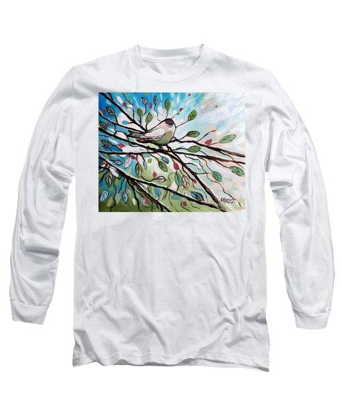 Sage Glimmering Songbird  Long Sleeve T-Shirt