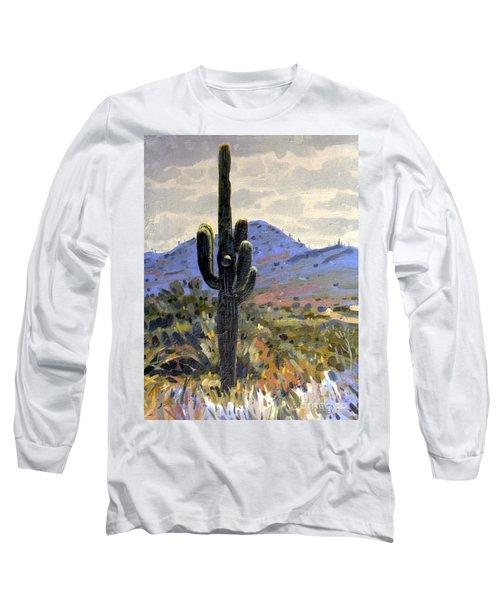 Saguaro Long Sleeve T-Shirt by Donald Maier