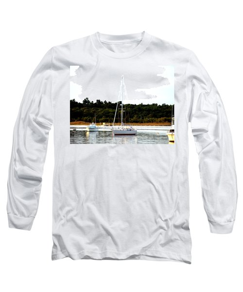 Sail Boat At Anchor  Long Sleeve T-Shirt