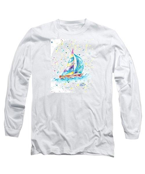 Sailboat By Jan Marvin Long Sleeve T-Shirt