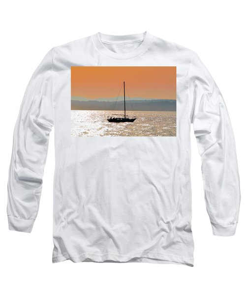 Sailboat With Bike Long Sleeve T-Shirt
