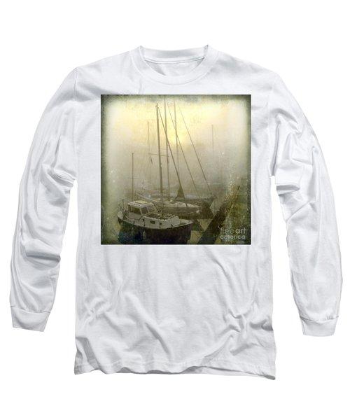 Sailboats In Honfleur. Normandy. France Long Sleeve T-Shirt