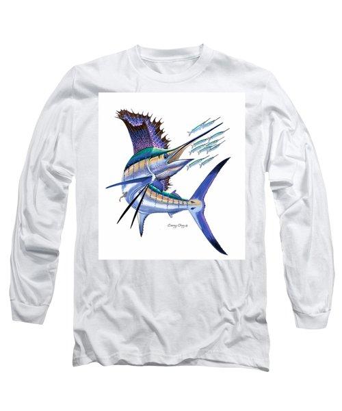 Sailfish Digital Long Sleeve T-Shirt by Carey Chen