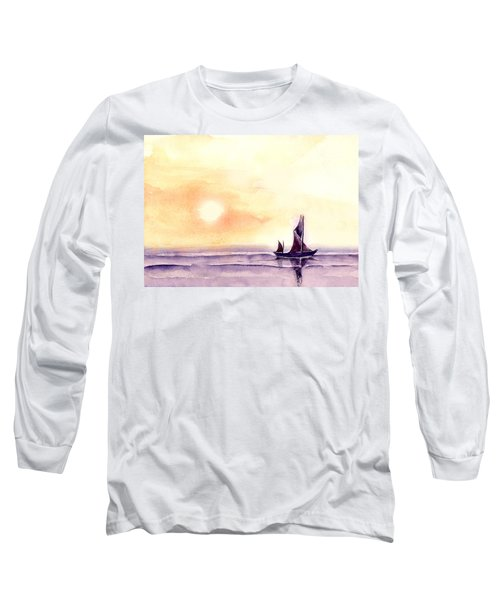 Long Sleeve T-Shirt featuring the painting Sailing by Anil Nene