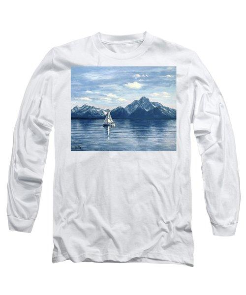 Sailing At The Grand Tetons Long Sleeve T-Shirt