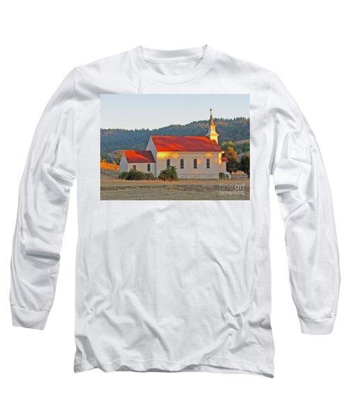 St. Mary's Church At Sunset Long Sleeve T-Shirt