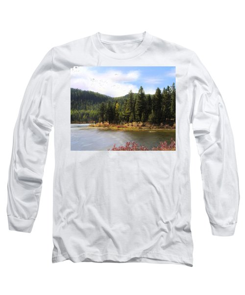 Salmon Lake Montana Long Sleeve T-Shirt