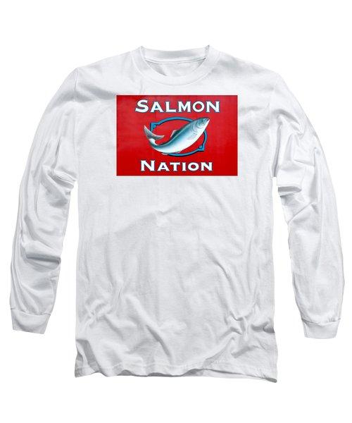 Salmon Nation Long Sleeve T-Shirt