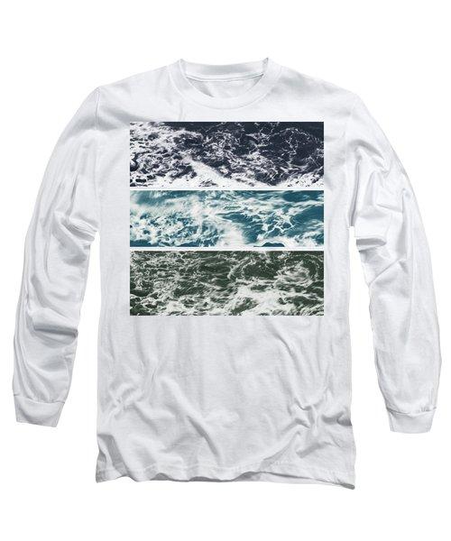 Salt Water Triptych Variation 2 Long Sleeve T-Shirt