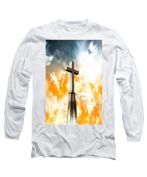 Long Sleeve T-Shirt featuring the photograph Salvation  by Aaron Berg
