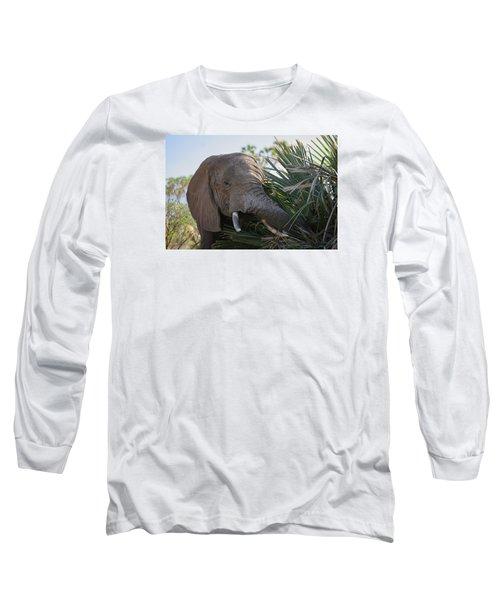 Samburu Elephant Long Sleeve T-Shirt by Gary Hall