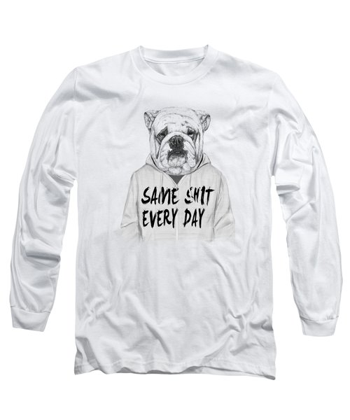 Same Shit... Long Sleeve T-Shirt by Balazs Solti