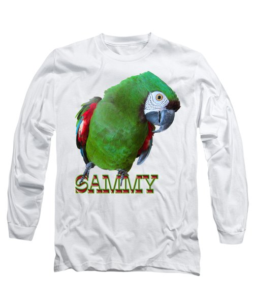 Sammy The Severe Long Sleeve T-Shirt by Zazu's House Parrot Sanctuary