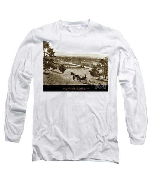 Samuel J. Duckworth Pauses To Look Upon What Would Become Carmel 1890 Long Sleeve T-Shirt