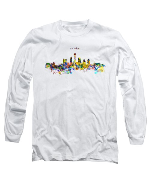 San Antonio Skyline Silhouette Long Sleeve T-Shirt