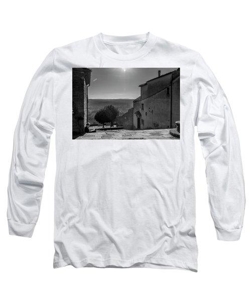 San Francesco Monastery - Fiesole, Italia. Long Sleeve T-Shirt by Sonny Marcyan