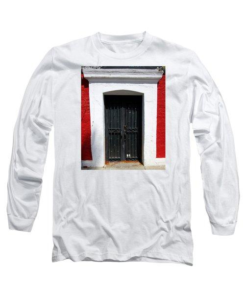 San Jose Del Cabo Door 8 Long Sleeve T-Shirt by Randall Weidner
