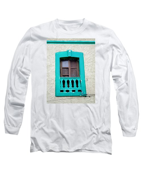 San Jose Del Cabo Window 12 Long Sleeve T-Shirt by Randall Weidner