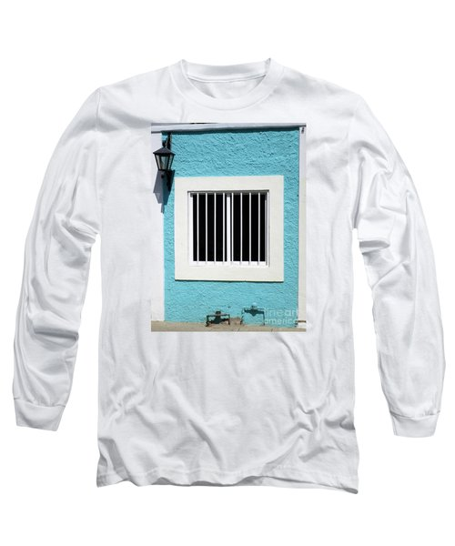 San Jose Del Cabo Window 9 Long Sleeve T-Shirt by Randall Weidner