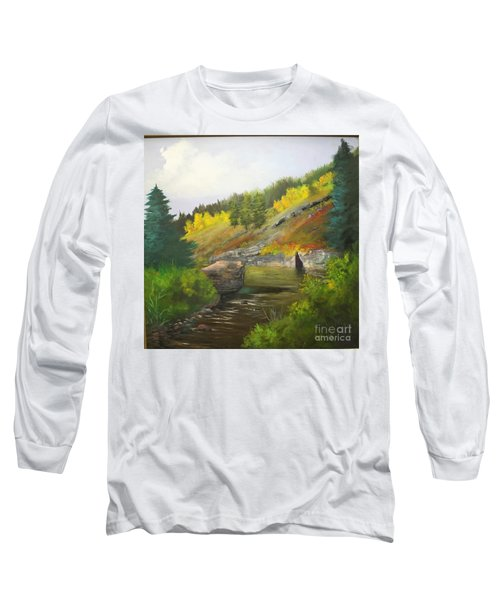 Long Sleeve T-Shirt featuring the painting San Juan River by Barbara Haviland
